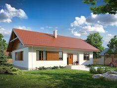 Projekt domu TP Abra szkielet drewniany - DOM TP1-38 - gotowy projekt domu