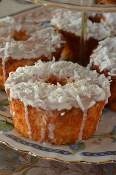 Mini Pineapple Coconut Angel Food Cakes