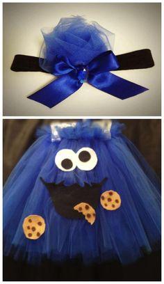 cookie monster tulle tutu dress by LyricsClosetShop on Etsy, $30.00