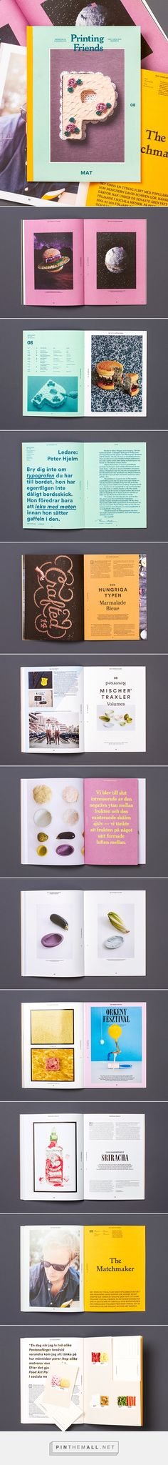 Printing Friends Magazine No 8 – Food on Behance. - a grouped images picture - Pin Them All Graphic Design Layouts, Book Design Layout, Print Layout, Book Cover Design, Graphic Design Illustration, Page Design, Graphic Design Inspiration, Layout Inspiration, Design Editorial