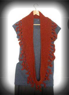 fringe crochet scarf 100 Unique Crochet Scarves