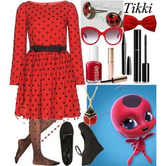 Tikki: Miraculous Ladybug by ender-chic52 on Polyvore featuring Yves Saint Laurent, Effie's Heart, Wet Seal, BillyTheTree, Dolce&Gabbana, Chanel, By Terry, Marc Jacobs and Essie