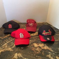 St Louis Cardinals New Era And Service Merchandise Lot Of 4 Hats Preowned 26963e3562a9