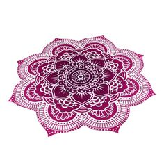 "Omiky® 59.0"" Round Hippie Tapestry Beach Throw Towel,Polyester Mandala Boho Table Cloth Yoga Mat Blanket Bikini Cover Up for Summer (Purple): Amazon.co.uk: Kitchen & Home"