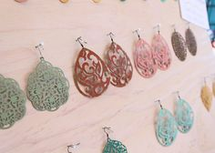 diy jewelry display for craft shows - via Acute Designs.  This would be great for pendants, key rings, charms...