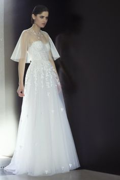 vestido de noiva com capa curta de mira zwillinger 2015 CHARLIE