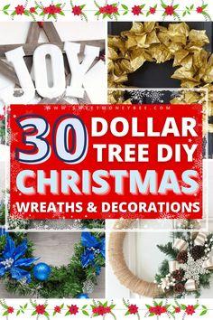 Dollar Tree Christmas, Christmas Hacks, Christmas Holidays, Christmas Wreaths, Christmas Decorations, Xmas, Easy Crafts For Kids, Diy Arts And Crafts, Diy Crafts