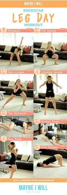 Get your gams in tip-top summer shape with this rockstar leg day workout! Get your gams in tip-top summer shape with this rockstar leg day workout! Leg Day Workouts, Fun Workouts, At Home Workouts, Fitness Workouts, Thigh Exercises, Body Workouts, Best Workout For Women, Weighted Squats, Mental Training