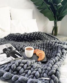Oversize Knitt Woollen Throw available from  N I C K E L . N . C O