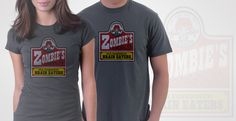 'Zombie's Old Fashioned BRAIN EATERS' Tee shirts! LOL!
