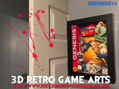 Earthworm Jim 2 Sega Genesis Nintendo NES - Retro 3D Game Arts - Series 8 Collection - Retro Art 4 Playstation xbox one ps4 custom