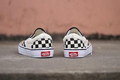 Vans USA.AMAC Customs CheckerBoard Slip-On Classic Yellow Black White  Womens Shoes ef059a9e6