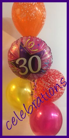 30th birthday bouquet  Available at celebrations  www.celebrationsnsw.com #partyshop