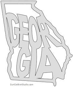 Map Outline, State Outline, Georgia Outline, Atlanta Map, Vintage Typography, Vintage Logos, Bullet Journal Quotes, Retro Logos, Silhouette Design