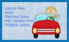 FREE License Plate Game - Frugal Homeschool Family