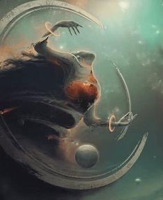 Creative Illustration, Painting, Antares, and image ideas & inspiration on Designspiration Fantasy Concept Art, Dark Fantasy Art, Fantasy Artwork, Dark Art, Monster Art, Arte Obscura, Fantasy Landscape, Horror Art, Creature Design