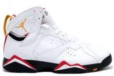 304775-101 Air Jordan Retro 7 (VII) Cardinal (White/Cardinal Red) Basketball Shoes