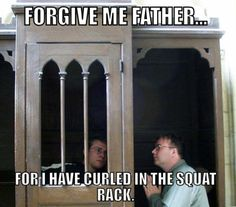People actually curl in the squat rack?!