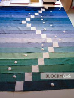 block M quilts: QuiP # 3 - Quilt in Progress: Regatta