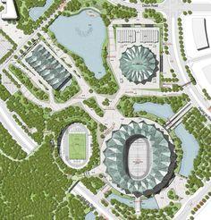 Three stadiums by GMP Architekten for the Universiade 2011 in Shenzhen.
