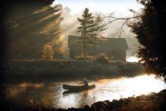 Canoeing granpa.