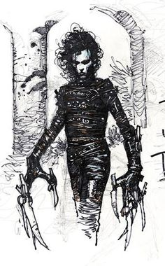 Travis Charest - Edward Scissorhands More Travis Charest @ http://groups.yahoo.com/group/ComicsStrips & http://groups.google.com/group/ComicsStrips http://travischarestspacegirl.blogspot.com http://www.travischarestgallery.com