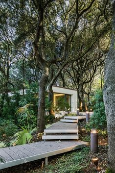 Outbuilding of the Week: A Sardinian Guest House in the Trees – Gardenista deck-walkway-path-to-modern-house-in-forest-sardinia Landscape Architecture, Landscape Design, Garden Design, Italy Architecture, Studios Architecture, Pavilion Architecture, Chinese Architecture, Architecture Office, Futuristic Architecture