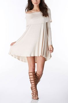 This Off the Shoulder dress is both comfy and stylish! #trendy