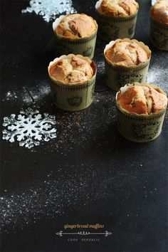 Beautiful gingerbread muffins for Christmas that are warm and crumbly and smell of sugar and spice and everything nice!