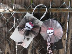 Monster High Birthday Party Favor Bags by FantastikCreations, $25.00