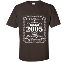 11th birthday Gift Idea 11 Year Old Boy Girl Shirt 2005