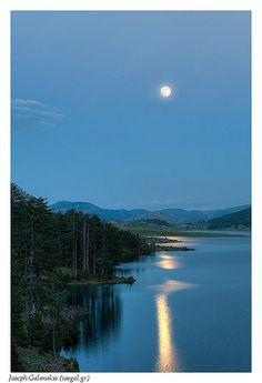 full moon over mt. Smolikas @ #Pindos, #Greece #travel #ttot  Photo via: Joseph Galanakis  http://www.flickr.com/photos/iosgal/7344605920/