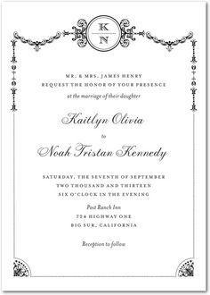 Framed Elegance Formal Wedding Invitations $1.89 #weddinginvitations #weddings