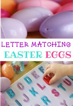 Your preschooler will LOVE matching letters of the alphabet with this fun easter egg scavenger hunt activity! Toddler Preschool, Learning Activities, Preschool Activities, Letter Recognition Games, Letter Matching, Letter A Crafts, Alphabet Activities, Play To Learn, Teaching Kids
