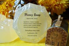 Glycerin Soap Honey  Bath Home Decor Gift Favors by DaisyKays, $4.00