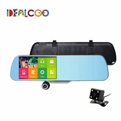 "5.0"" IPS Touch Android 1080P Dash Camera Parking Car Dvrs Rearview Mirror Video Recorder Car DVR Dual Camera GPS Navigation Dvrs"