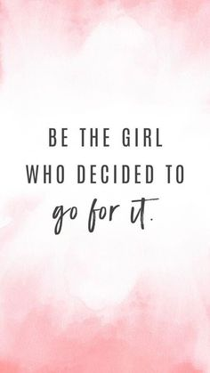 I am! #goforit