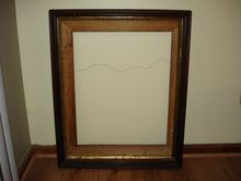 Antique Huge Victorian Deep Walnut Picture Frame (24x30)