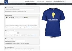 This is like kickstarter for shirts! Teespring - Crowdfunded Custom Apparela