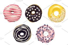 Taste of roundness. Donuts. - Illustrations donut isolated sweet dessert vector food pastry tasty delicious hand sketch chocolate sugar snack set candy cake breakfast white icing pink illustration glazed drawn icon doughnut cream ingredients illustrations cookies eps10 glaze design dinner hatch hatching line etching vintage retro watercolor woodcut yummy ink cafeteria art background engrave engraving lunch coffee ring scrawl top