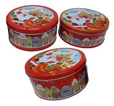 "#3 #Pcs #Christmas #Nested #Cookie #Tin #Set | #Christmas #Treat #Containers, #Candy #Gift #Boxes, #Party #Favors Each pack contains #3 #pcs of red #nested #Christmas #containers #set. These #boxes are sturdy and can be kept for storage purposes for long time Each #tin comes in a different size, allowing for each #tin to be #nested inside the other Larger #tin measures approximately 6.5"" x #3.25"" high https://technology.boutiquecloset.com/product/3-pcs-christmas-nested-cookie"