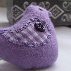 "Folksy :: Buy ""Purple Felt Lavender Bird"" | Craft Juice"