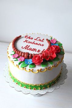 Cake ispired by a Polish traditional necklace and scarf by dulcerella, via Flickr