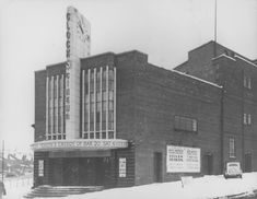 The Clock Cinema, 247-249 Roundhay Road, Harehills, Leeds LS8 4HS, 'on a junction near the suburb of Roundhay' designed by Norman Fowler. It opened on 21st November 1938 with The Hurricane starring Dorothy Lamour. Its last film was in 1976 & is now a store with offices on top. Leeds City, Harbor Lights, Unusual Buildings, Old Street, England, West Yorkshire, Cinema Theatre, Film Stills, Street Photography