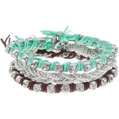 G by GUESS Braided Friendship Bracelet, GREEN - Polyvore