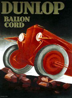 1910 Dunlop Balloon Cord Tire