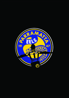 PARRAMATTA EELS POSTER 2014 Neli Seumanutafa Wests Tigers, Rugby League, Juventus Logo, Over The Years, Printables, Posters, Football, Artists, Boys