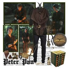 """""""Peter Pan- Of Once Upon A Time"""" by opelazar ❤ liked on Polyvore featuring Anja, Once Upon a Time, Ksubi, Painted Moon, Jane Norman, Viktor & Rolf and Sharon Mills"""