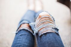 I love the look of ripped jeans on other girls. The destroyed look gives a sexy glimpse of skin beneath the tough surface of torn work cotton. Ripped skinny jeans and boyfriend jeans have become a mainstream trend that's here...