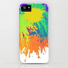 Splashs III iPhone & iPod Case by Rain Carnival - $35.00 #iphone #samsung #mobile #case #skin #splash #colorful #summer
